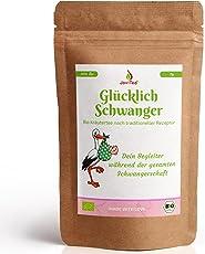 JoviTea Glücklich Schwanger Tee BIO + Traditionelle Rezeptur + Schwangerschaftstee + geeignet während der Schwangerschaft + 100% natürlich und ohne Zusatz von Zucker - 75g