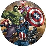 Dekora 231365 - Marvel Avengers taartoplegger van suikervrij eetpapier - 16 cm