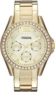 Fossil Orologio Analogico Quarzo Donna con Cinturino in Acciaio Inossidabile ES3203