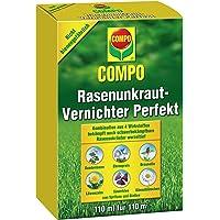 COMPO Rasen Unkrautvernichter Perfekt, Vernichtung von schwerbekämpfbaren Unkräutern, Konzentrat, 110 ml (110m²)