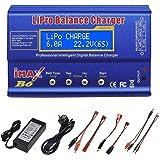 RUIZHI Cargador LiPo de 80 W 6A balance profesional cargador de alta potencia para LiPo/Li-Ion/LiFe (1-6S), NiMH/NiCd (1-15S)