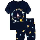 Conjunto de pijama corto para niños pequeños con dinosaurio de tren, ropa de dormir de algodón para niños de 1 a 10 años