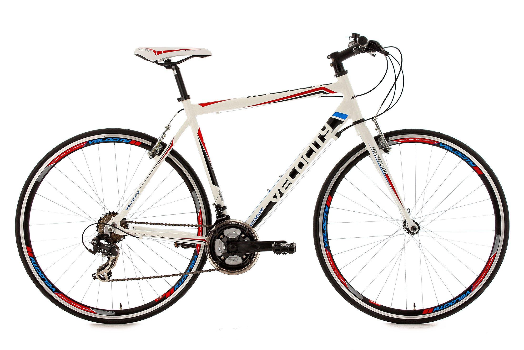 KS Cycling Uni Fahrrad Fitnessbike Alu-rahmen 28 Zoll Velocity 21-gänge RH 53 c