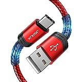 JSAUX Cavo USB C 3A Carica Rapida[1M+2M/2 Pezzi],Cavo USB Tipo C Intrecciato in Nylon Compatibile per Samsung S20 S10 S9 S8 N