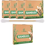 EcoShoots 400 of 1000 bamboe-wattenstaafjes | 4x100 biologische Bambuds | Gratis verpakking van gerecycled plastic | GOTS-gec