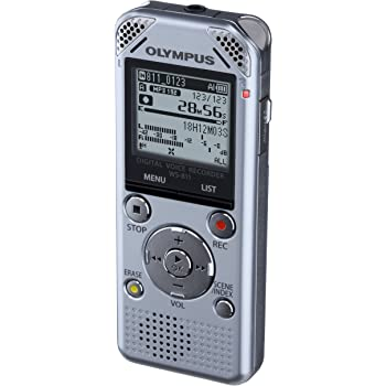 Olympus WS-811 Digital Stereo Voice Recorder with Flash 2GB Memory, WMA, MP3 and Built in USB Key - Silver