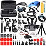 Deyard Kit Premium Set di Accessori per GoPro Hero 9 Black GoPro Hero 8 Hero 7 Hero 6 Hero 5 Hero Session YI Campark Akaso Cr