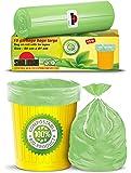 Shalimar Premium Compostable/Biodegradable Garbage Bags (Large) Size 60 cm x 81 cm (10 Bags) (Trash Bag/Dustbin Bag…