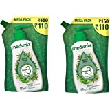 Medimix Ayurvedic Nature Care with Neem, Tulsi, Aloe Vera - Hand Wash Mega Pack Refill Pouch (Pack of 2), 1500 ml
