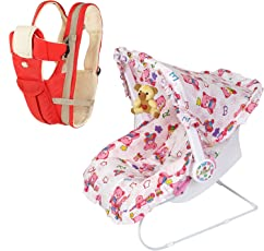 Dash 9 in 1 Multifunctional Baby Carrier/Carry Cot (Pink)