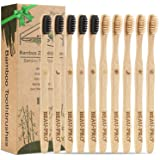 BEAU-PRO Premium Activated Carbon Bamboo Toothbrush, 100% BPA Free Plastic, Free Vegan, Environmentally Friendly and Recyclable Pack of 10