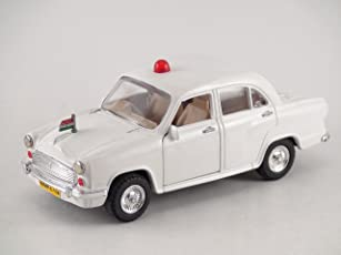 Centy Toys Classic Of Ambassador Car ( Moris Oxford)-Kidsshub 13.3 X 5.3 X 5 cm, Weight:100gms White - VIP Model