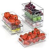 FINEW Réfrigérateur Organizer 6er Set (Petit), Boîte à tiroirs en Plastique, Organisateur de Boîte de Rangement Transparent a
