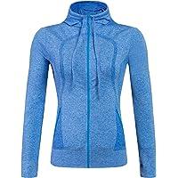 Selighting Giacca Sportiva con Zip per Donne Felpa Vestito Sportivo con Fori per Le Dita per Yoga Fitness Running…