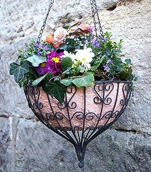 Lilienburg Blumenampel Hängekorb Metall (Ø 30 Cm): Amazon.de ... Blumenampel Selber Machen Hangekorb