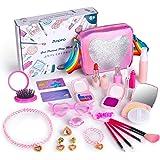 Anpro 23 PCS Maquillaje Niñas Modelo Falso,Maquillaje Set Infantil,Regalo Princesa para Niñas en Fiesta,Cumpleaños,Navidad (J