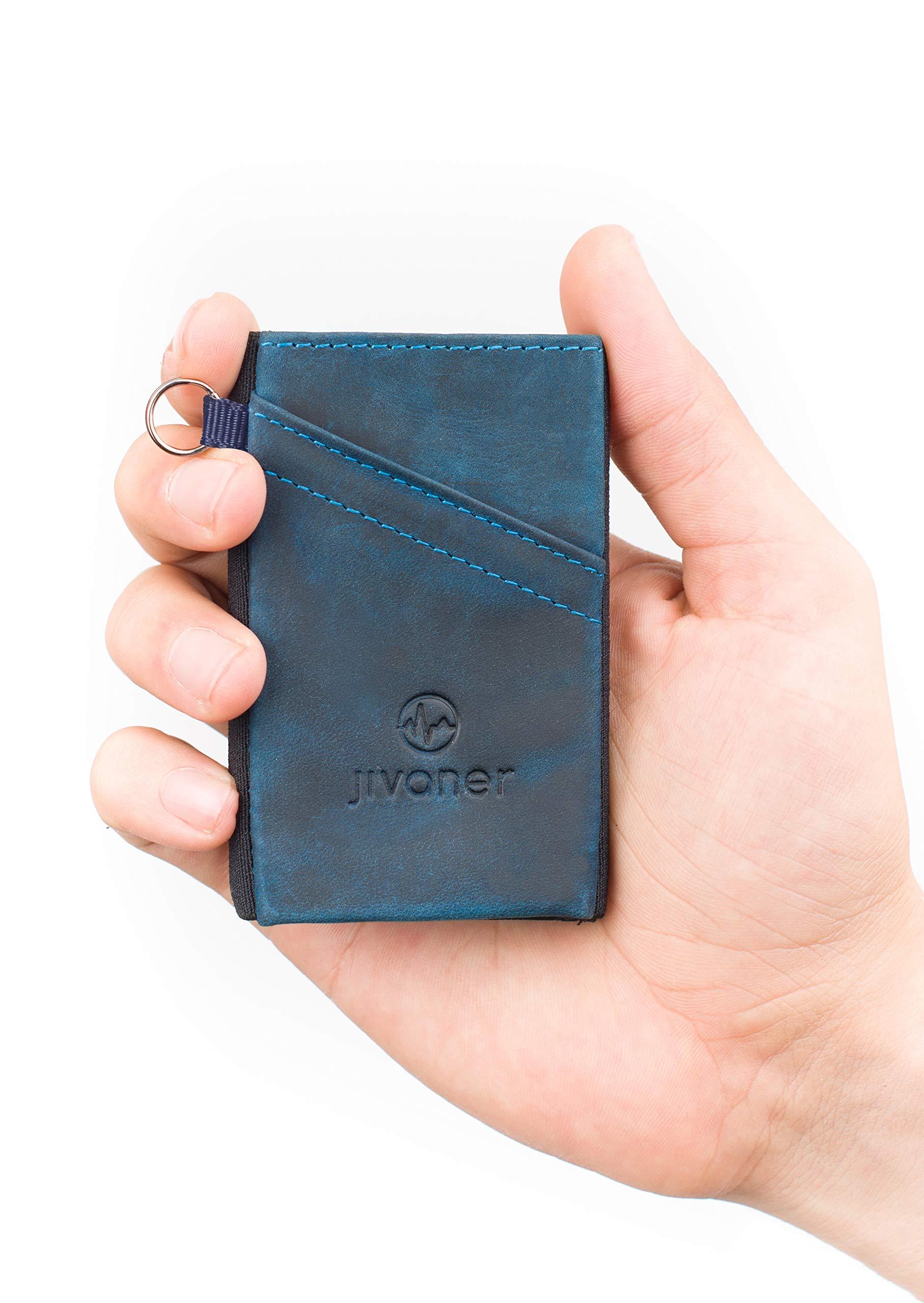 JIVANER Ultra Slim  Portafoglio uomo piccolo e suttile in pelle – Porta  carte di credito minimalista con protezione RFID – Elegante mini portamonete  ... 0f2accd453b