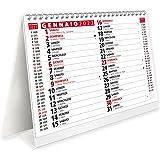 Calendario 2022 da Tavolo con Feste Settimane Lune e Santi - In Carta Certificata FSC® e Amico dell'Ambiente - Misura 19,5x16