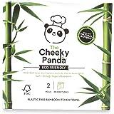The Cheeky Panda Naturally Sustainable - Rotolo da cucina senza plastica, 100% bambù, confezione da 2, ecologico, biodegradab