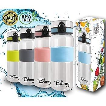 Tritan Trinkflasche 820 ml   Trainingsflasche BPA frei und auslaufsicher   Sportflasche mit Fruchtsieb   Wasserflasche für Fitness, Freizeit, Büro   1-Click Öffnung   grosses Volumen