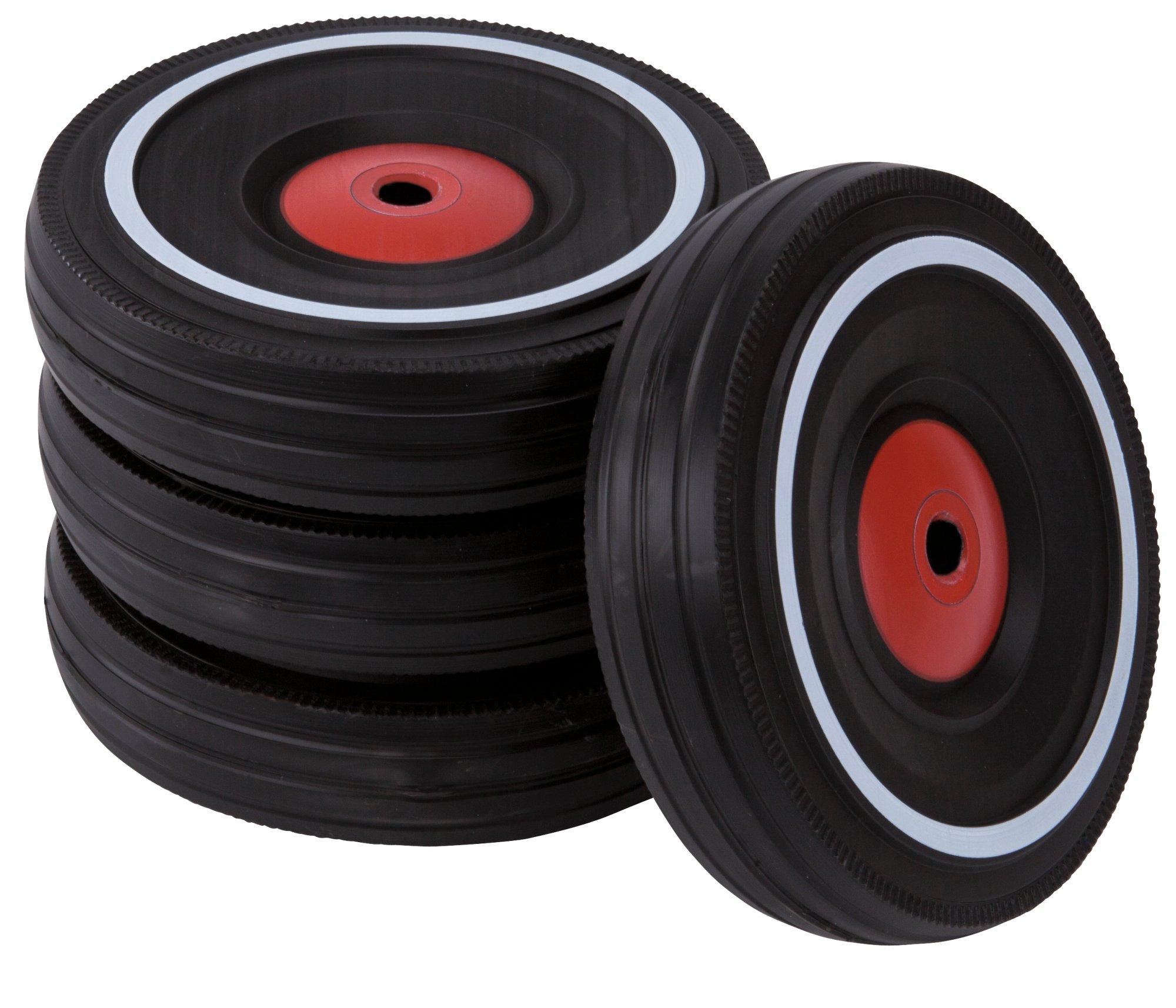 BIG - Bobby Car Whisper Wheels - Flüsterräder für Rutscher Autos, Reifen-Set mit Befestigungsclips und Montageanleitung…