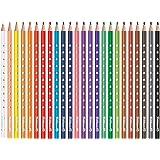 Pelikan 700665 Matite Colorate per Bambini, 24 Colori Silverino, Scorta Scuola, Forma Triangolare Ergonomica, Diametro Spesso