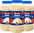 Manna Oats (1kg x 3 Jars) - Gluten Free Steel Cut Rolled Oats. High in Fibre & Protein. Helps Maintain Cholesterol. Good for Diabetics. 100% Natural