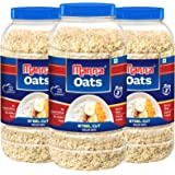 Manna Oats (1kg x 3 Jars) - Gluten Free Steel Cut Rolled Oats. High in Fibre & Protein. Helps Maintain Cholesterol. Good for