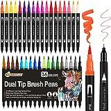 Dual Brush Pen Set, 36 Farben Filzstifte Dicke und Dünne für Kinder Pinselstifte Marker für Bullet Journal Zubehör Stifte, Ha