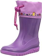Romika Jerry | Kinder unisex PVC Regenstiefel | Schadstofffreie Kinder-Gummistiefel mit Motiven und Kordelzug