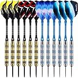 ONE80 Dartpfeile,12 Stück Steel Darts Pfeile Set,20 Gramm (18 Gramm Barrel) Profi Steeldarts mit Metallspitze
