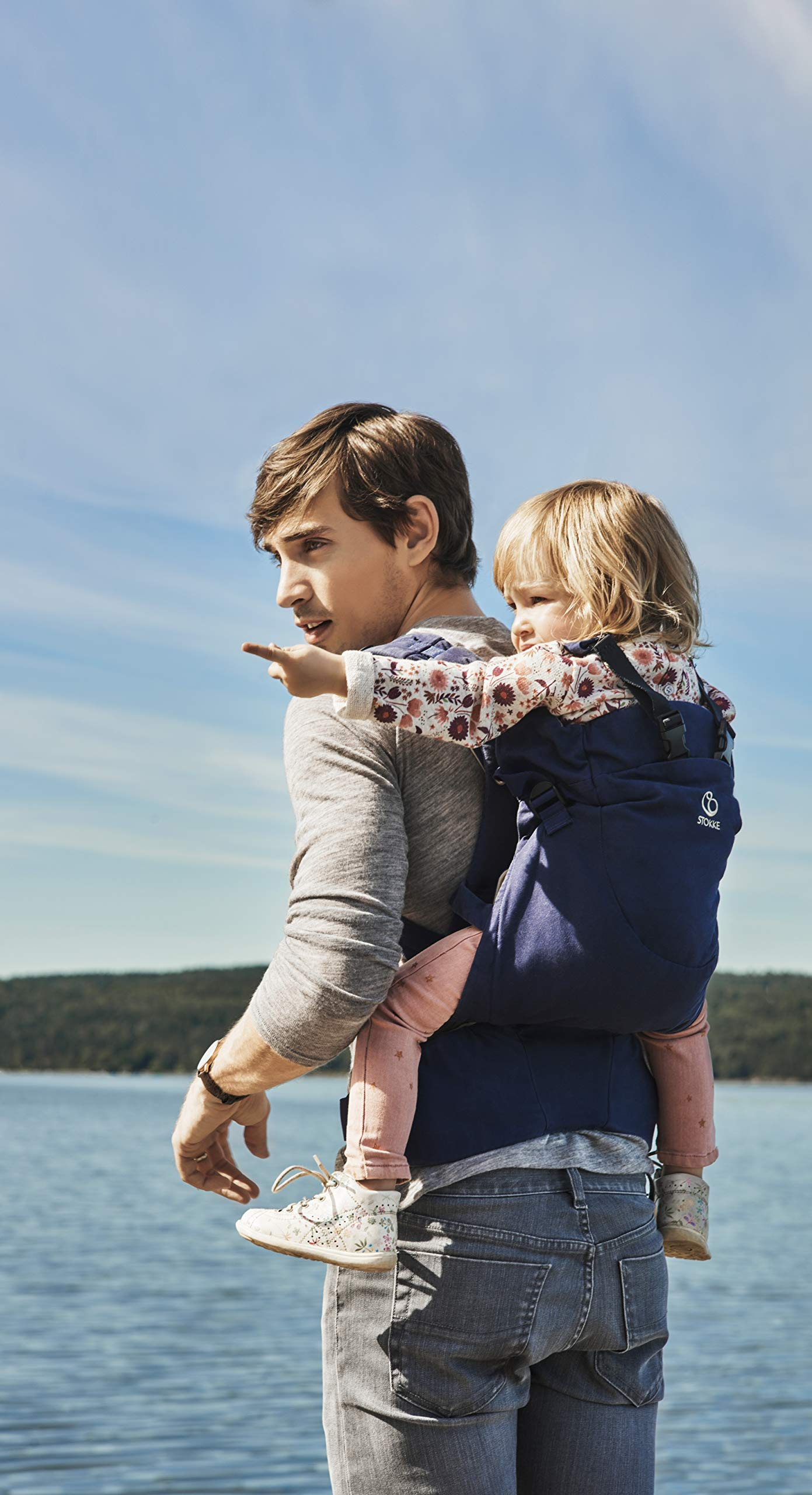 Stokke MyCarrier Back Carrier - Baby Carrier for Toddlers - Accessories for 3 in 1 Organic Cotton Carrying System - Ultralight & Ergonomic - Color: Coral Mesh Stokke With the MyCarrier wrap newborns feel sheltered when being close to the parents. From 9 months onwards the world can be discovered comfortably with the supplementary back carrier Research confirms that babies are much calmer and cry less when they feel the body heat and movements of their parents - the STOKKE MyCarrier provides this safe and secure feeling The 3 in 1 baby carrier allows three different carrying positions - on the stomach, either facing the parent or outwards and on the back with the back carrier suitable from 9 months 5