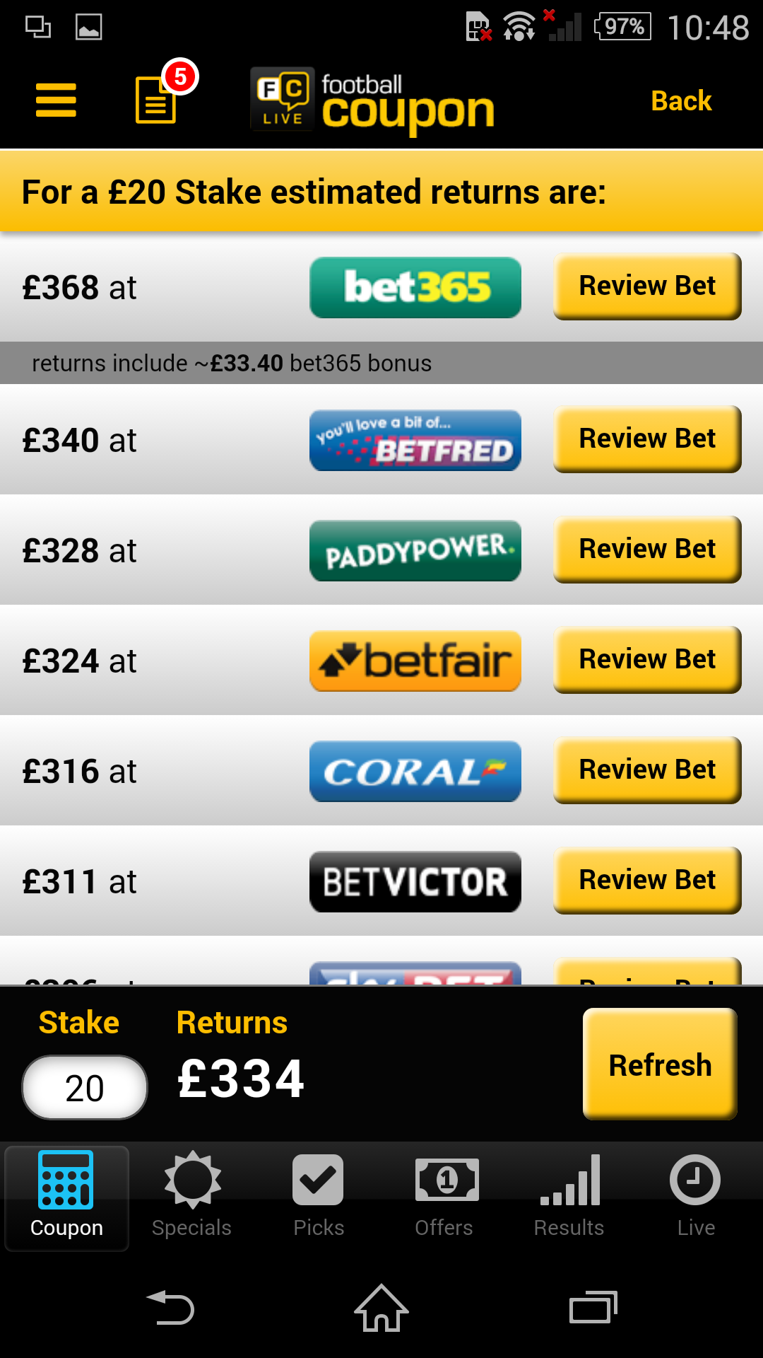 Football Coupon Betting