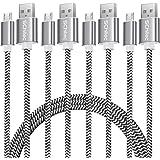 SCHITEC Micro USB kabel, 4-pack 0,3 m 1 m 2 m 3 m Micro USB Snelle Oplaadkabel USB 2.0 A Nylon Gevlochten Hoge Snelheid Synch