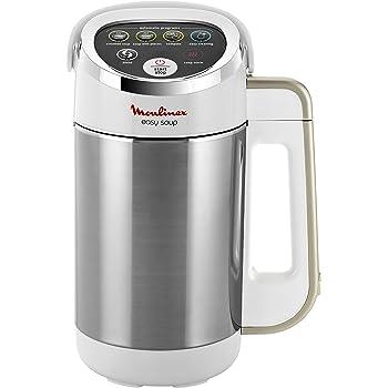 Moulinex LM841110 Blender Chauffant Easy Soup Double Paroi Capacité 1.2L Soupe Velouté Compote Maintien au Chaud 1000W Inox