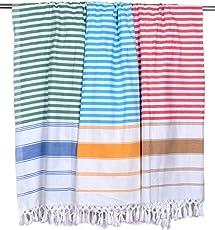 Sathiyas Supreme Soft Cotton Bath Towel-3pcs Combo (Multicolor)(30*60)