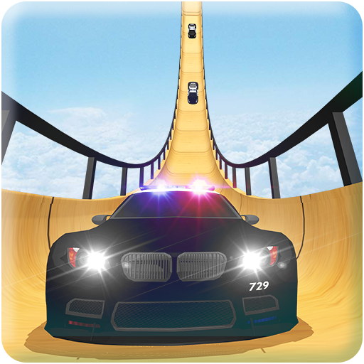 US Police Mega Ramp Car Stunts