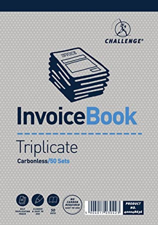 Rent Invoice Format Challenge Triplicate Invoice Book Pack Of  Amazoncouk  Receipt Payment Excel with Printable Rent Receipts Pdf Challenge Triplicate Invoice Book Pack Of  Amazoncouk Office Products Sample Acknowledgement Receipt Letter