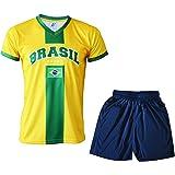 A chacun son Pays Camiseta de fútbol para niño con pantalón Corto y pantalón Corto