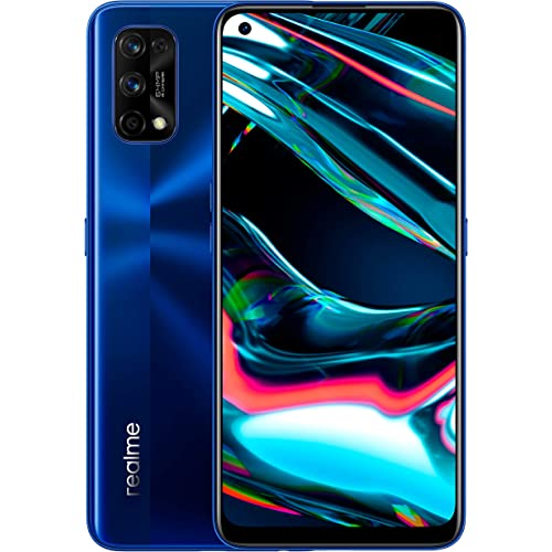 "realme 7 Pro, Display Super AMOLED 6.4"", Processore Otto - Core Snapdragon 720G, 8 GB RAM + 128 GB ROM, Fotocamera Quadrupla Sony da 64 MP + Fotocamera Selfie 32 MP, Blu"