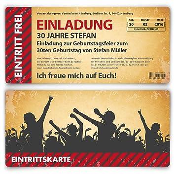 Einladungskarten Zum Geburtstag 40 Stuck Als Eintrittskarte Im