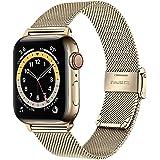 TRUMiRR armband, kompatibelt med 40mm 38mm Apple Watch, män, kvinnor, rostfritt stål, klockarmband, band i meshväv, armband