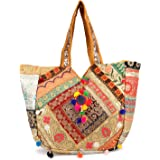 ARTS & CRAFTS Women's Huge Patch Work and Embroidered A Real Banjara Bag (Multicolour)