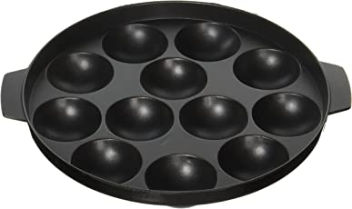 Tosaa Non-Stick 12 Cavity Appam Patra, 23cm,Black