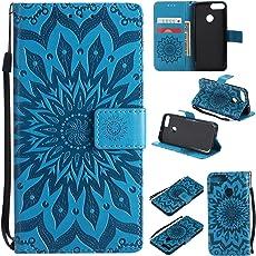 Hancda Hülle für Huawei Honor 9 Lite, Leder Hülle Flip Case Schutzhülle Ledertasche Handyhülle Cover Magnetisch Brieftasche Geldbörse Tasche