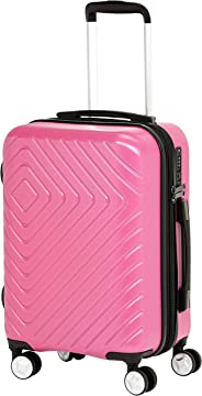 AmazonBasics Geometric Travel Luggage Expandable Suitcase Trolley with Wheels and Built-In TSA Lock