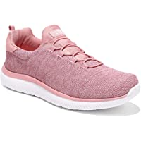 HKR Womens Slip On Trainers with Memory Foam Comfortable Walking Running Shoes