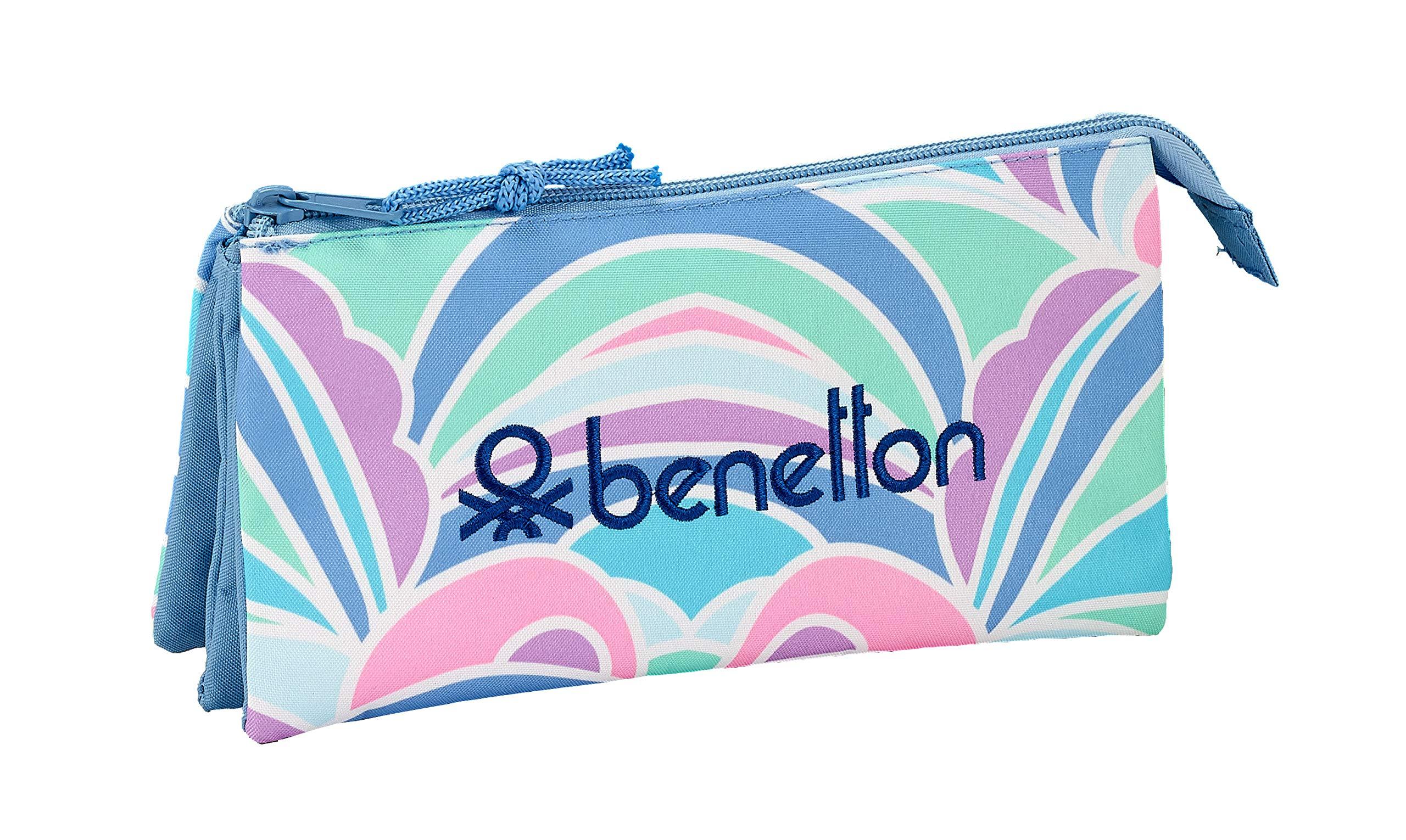 Benetton «Arcobaleno» Oficial Estuche Escolar 220x30x100mm