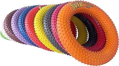 Guru Laser Tennikoit Rubber Ring Gripper/Dotted (tr-601-d, Multicolour)- Pack of 6