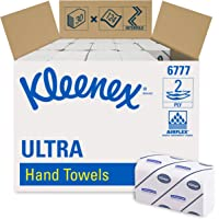 Kleenex Ultra 6777 Interfolded Hand Towels, 2 Ply, Medium, White, 30 Packs x 124 Sheets